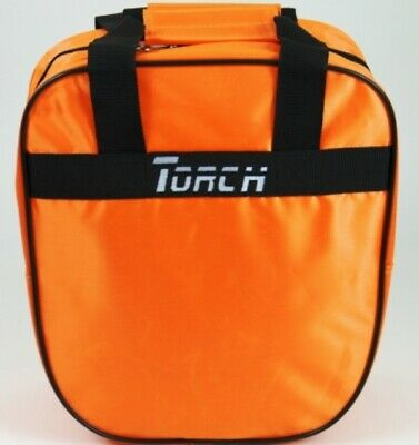 NEW TORCH 1 BALL ORANGE SINGLE BOWLING BAG WITH ROOM FOR BALL & SHOES