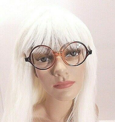 Vintage USA Round Transparent Bronze/Brown Eyeglass Frames