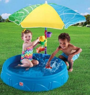 Overtone Pool Kiddie Swimming Step2 Play Water Toys Plastic Umbrella Spinning Ring