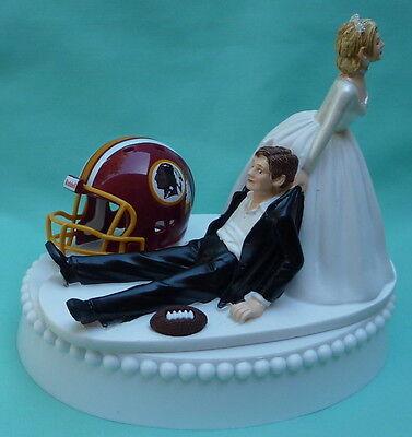 Wedding Cake Topper Washington Redskins Fun Football Sports Themed Groom's Top  (Redskins Cake)
