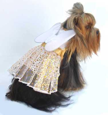 Dog Christmas Dress - Christmas Fairy With Wings - Dog Christmas Fairy - Christmas Fairy Dress