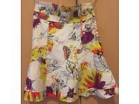 Karen Millen floral mini skirt