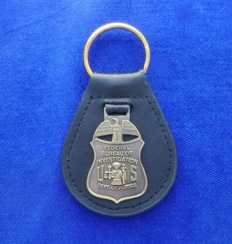 FBI Leather Key Ring