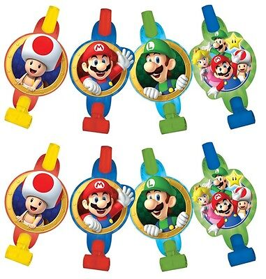Super Mario Brothers Blowouts (8) Birthday Party Supplies Noisemaker Decorations - Mario Brothers Decorations