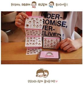 Momoi Sticker Set in Tin Box 20 pages x 70g Korean Stationery Diary Calendar