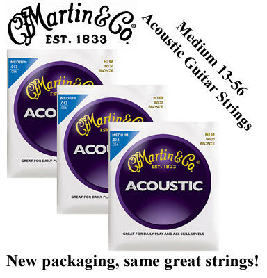 Купить MARTIN M150 - ** 3 SETS - MARTIN M150 ACOUSTIC GUITAR STRINGS MEDIUM 80/20 BRONZE **