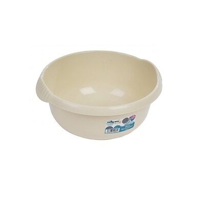Wham - 28cm Round Plastic Washing Up Sink Bowl - Cream
