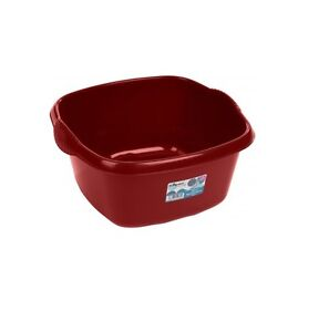 Square Sink Bowl : Details about Wham - 32cm Square Plastic Washing Up Sink Bowl - Red