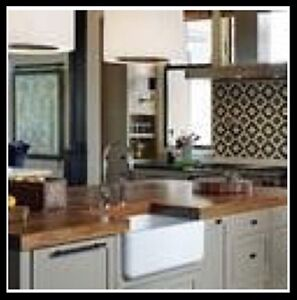 Solid wood kitchen, island, bar or vanity countertops