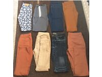 Selection of jeans and chinos