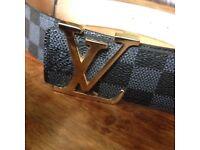 Louis Vuitton black Damier belt