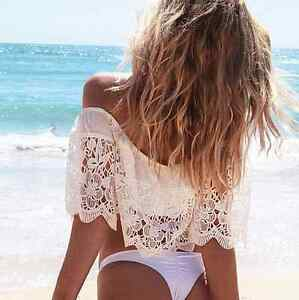 Brand new white lace cover up/ crop top. Sizes S, M Kitchener / Waterloo Kitchener Area image 3