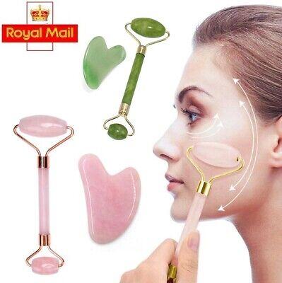 Twin Head Quartz Natural Gua Sha Board Facial Massage Double Head Jade Roller