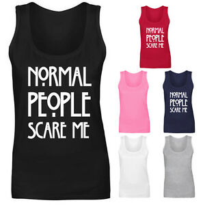 Womens-Normal-People-Scare-Me-Slogan-Vest-Tank-Top-NEW-UK-8-18