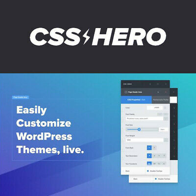 Css Hero Visual Css Editor Plugin To Customize Wordpress Themes Live
