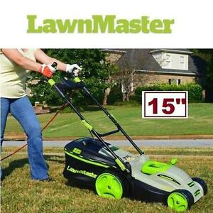 "NEW LAWNMASTER 15"" MULCHING MOWER - 125699526 - 10A ELECTRIC LAWNMOWER"