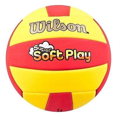 WILSON SUPER SOFT PLAY RED  / YELLOW VOLLEYBALL OFFICIAL SIZE AND WEIGHT ,
