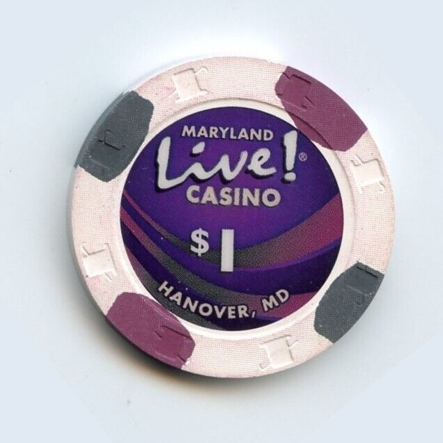 1.00 Chip from the Live Casino in Hanover Maryland