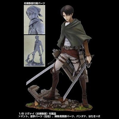Sentinel Attack on Titan Shingeki no Kyojin BRAVE ACT Levi Cleaning Figure US