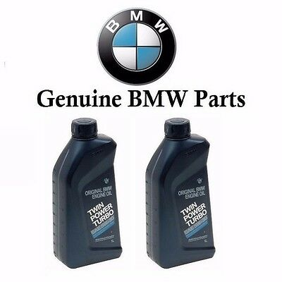 2 Quarts Pack 5W-30 Genuine For BMW TWIN POWER TURBO 5W30 Engine Motor Oil