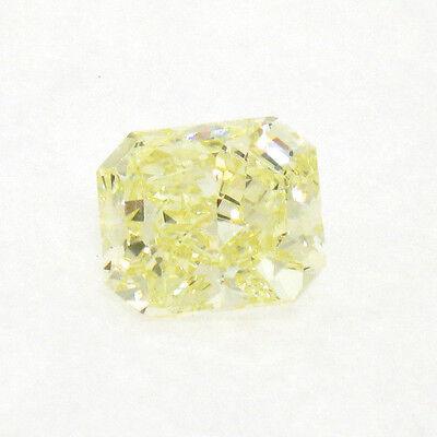 GIA Certified 2.55 Carat Natural Fancy Yellow Radiant Cut Diamond VS1 Clarity