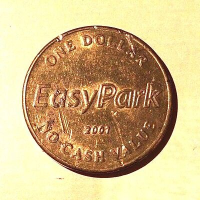 Easypark One Dollar 2001 Vancouver Spectacular By Nature Tourism Parking Token
