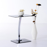 Small Side End Display Laptop Stand Telephone Coffee Lamp Table Metal Glass Top