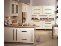 Brand new kitchen units complete with doors and soft close hinges.
