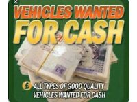 Wanted cars vans 4x4 pick up mini bus tipper Luton campervan motorhome top prices
