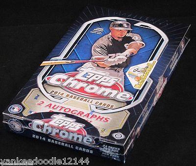2014 Topps Chrome Baseball Factory Sealed Hobby Box , 24 packs/4 Cards ~ AUTO'S!
