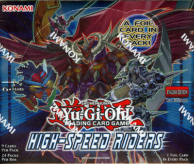Yu-Gi-Oh High Speed Riders 1st Edition English SEALED Booster Box Yugioh