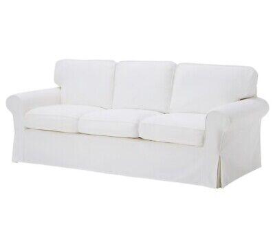 Ikea EKTORP 3 Seat Sofa Slipcover Cover VITTARYD WHITE New! SEALED!