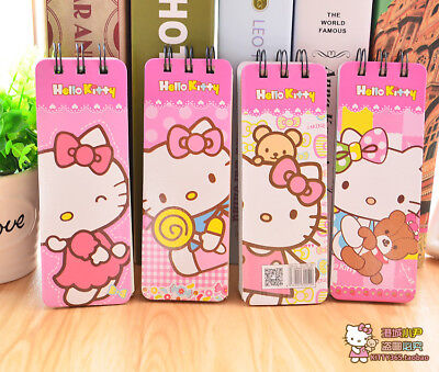 Cartoon Hello Kitty Spiral Memo Note Pad Mini Notebook Diary Jotter Book 2pcs