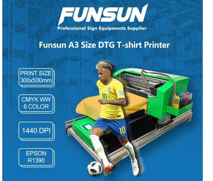 A3 Dtg 1440dpi T-shirt Printing MachineBusiness - Print on Dark and Light Shirt