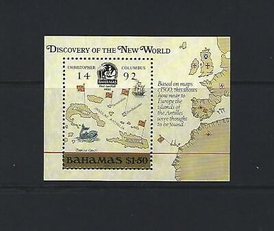 BAHAMAS 1988 HB Nº 51  CRISTOBAL COLON HOJA BLOQUE