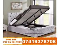 DOUBLE VELVET STORAGE BED OR KINGSIZE Bed Available With Mattress RACHAEL