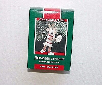 NEW NIB Hallmark Christmas Ornament Reindeer Champs Vixen 1989 Tennis #4