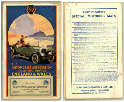 Vintage 1920's? England & Wales Touring Road Map – Automobile Association
