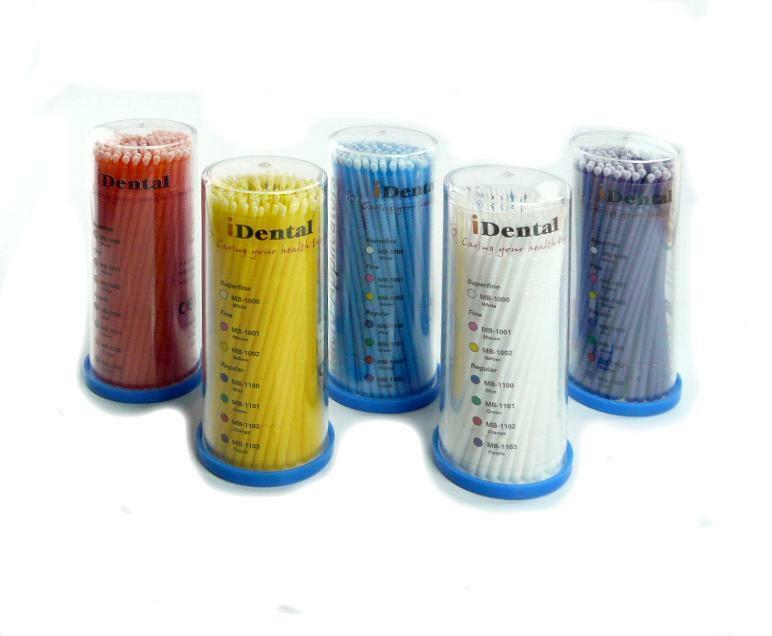 iDental Micro Applicator Fine (Yellow 2.0mm) 1600 pcs