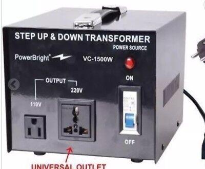 1500 Watt Voltage Transformer Heavy Duty Reliable Step Up Down Converter Travel