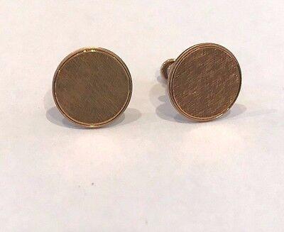Vintage Gold Filled LESTAGE Monogrammable Earrings Screw Back