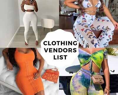 Ultimate clothing wholesale vendors list 2021( E-Mail Delivery)