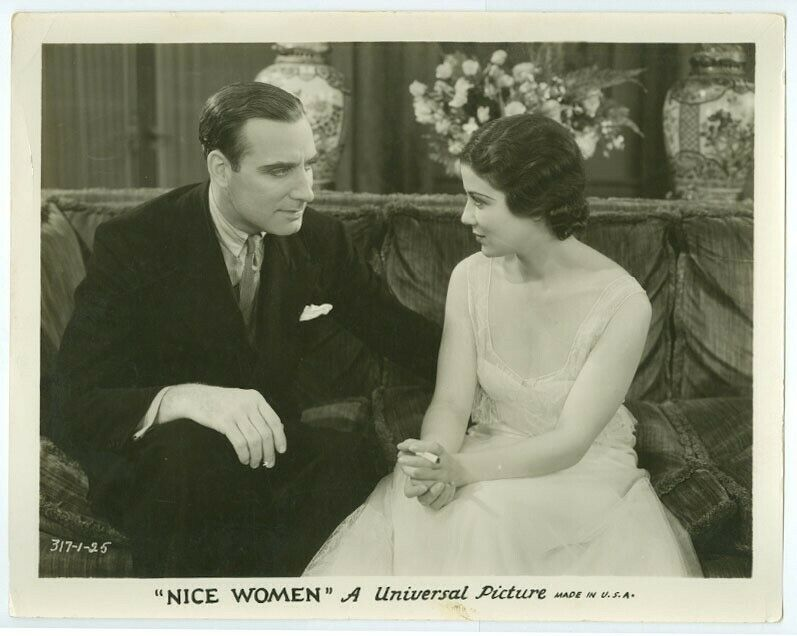 SIDNEY FOX, ALAN MOWBRAY original movie photo 1931 NICE WOMEN