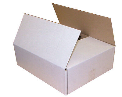 10 White Postal Storage Cardboard Box 14.5