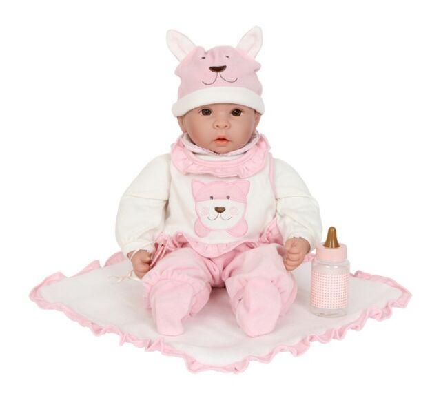 Puppe Emilia mit Zubehör für Kinder Babypuppe Mädchen Kinderpuppe Spielzeugpuppe