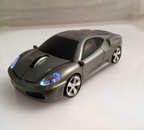 2.4GHz Wireless Optical Ferrari Car Mouse Game Mice + USB Re