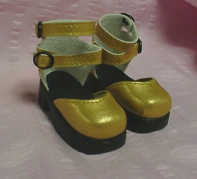 """Doll Shoes 48mm /""""Sitting Pretty/"""" by Monique Gold for Tyler in YELLOW"""