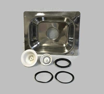 NEW BRINKMANN STAINLESS STEEL OUTDOOR SINK PATIO GRILL TRAILER 15.75 X (Outdoor Sink)