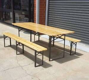 OUTDOOR FOLDING BEER TABLE & BENCH 3 PCE SET | HALF PRICE!! NEW!! Allenby Gardens Charles Sturt Area Preview