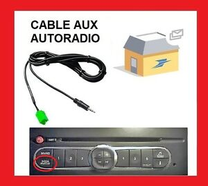 cable jack aux 3 5 autoradio renault megane 2 clio 2 3 kangoo espace scenic 2 ebay. Black Bedroom Furniture Sets. Home Design Ideas